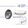 Deimantinis galandimo diskas 125mm (bliūdelis)