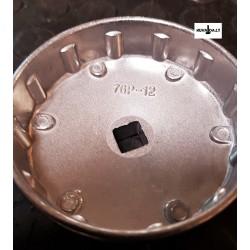 Raktas filtrui 76mm 12-kamp.