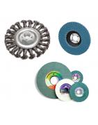 Pjovimo, galandimo, šlifavimo diskai, šepečiai, juostos